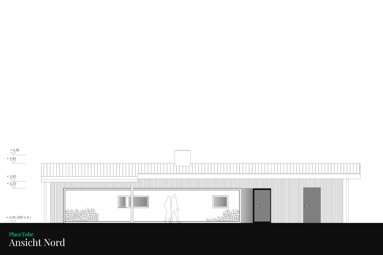 Bauplan Grundriss Nord