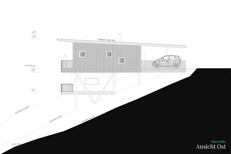 Bauplan Grundriss Ost