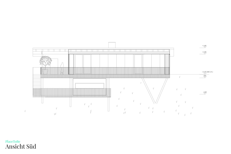 Bauplan Grundriss Süd