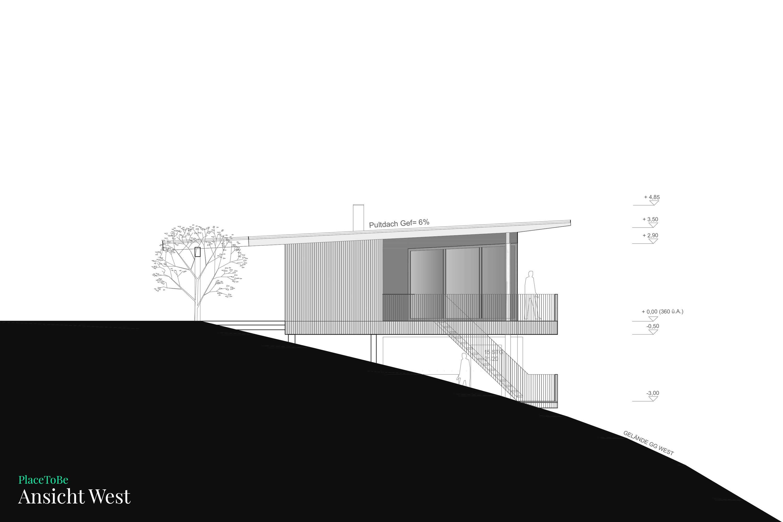 Bauplan Grundriss West