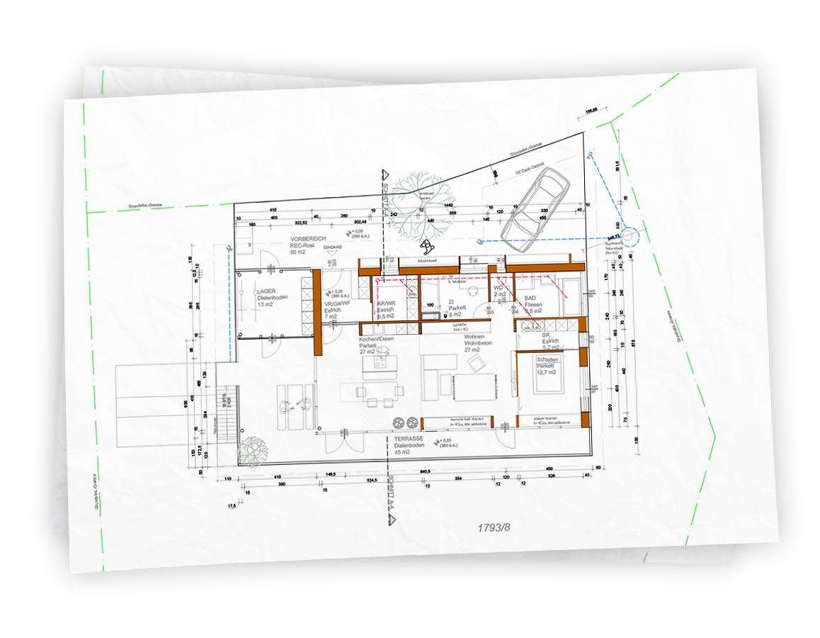 Grundriss und Architekturplanung unseres Hauses