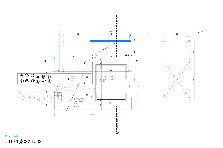 Bauplan Untergeschoss