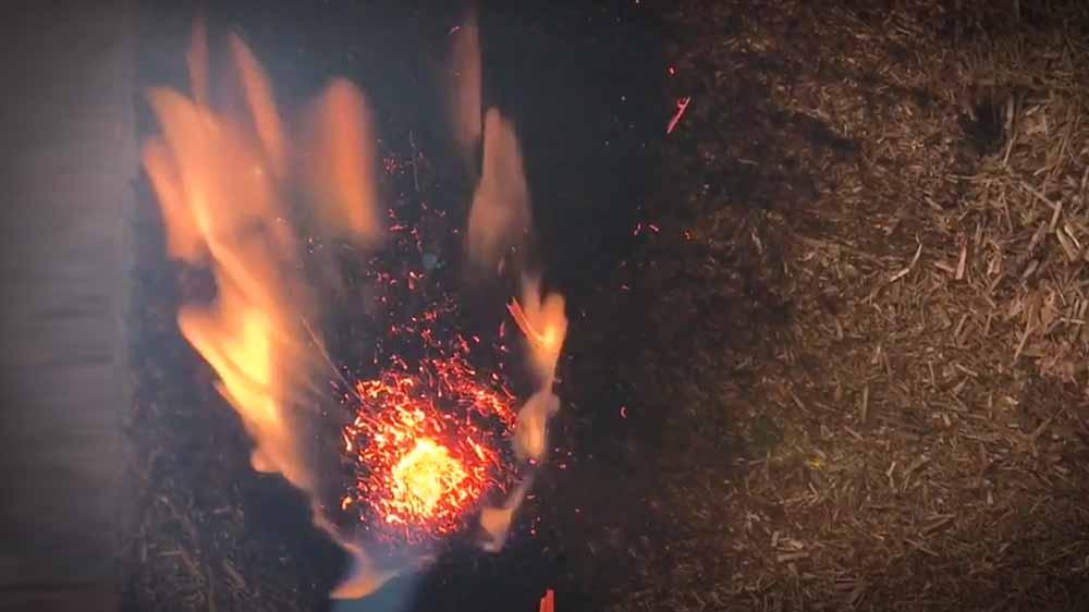 Das Brandverhalten von Stroh