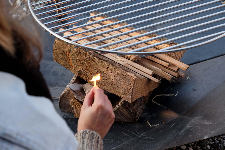 Holz Feuerschale