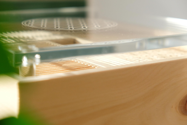 Formaldehydreduktion mit Zirbenholz und Luftzirkulation